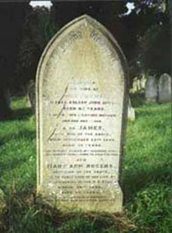 Rogers' family grave.  Hill Lane, Old Cemetery, Southampton