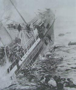 Sinking Ship featured in The London Illustrated News